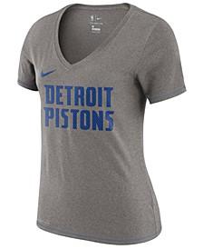 Women's Detroit Pistons Dri-Fit V-neck T-Shirt