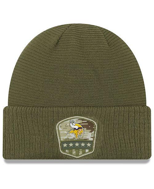 New Era Minnesota Vikings On-Field Salute To Service Cuff Knit Hat
