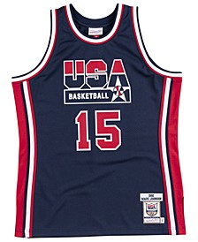Men's Magic Johnson Authentic USA Jersey