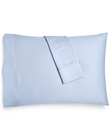 Bergen House Woven Diamond Dot King Pillowcases, 1000-Thread Count 100% Certified Egyptian Cotton