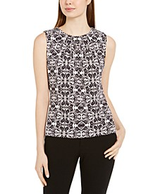 Petite Printed Sleeveless Top