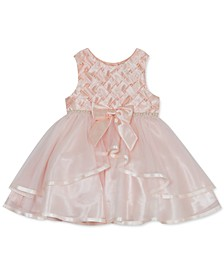 Baby Girls Basket Weave Mesh Dress