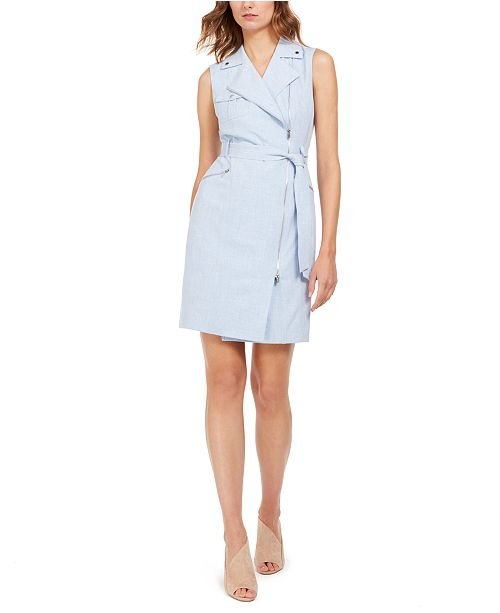 Calvin Klein Moto Wrap Dress