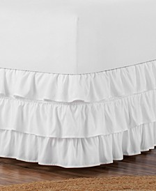 Belles & Whistles 3-Tiered Ruffle Twin Bed Skirt