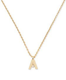 "Gold-Tone Crystal Mini Initial Pendant Necklace, 17"" + 3"" extender"