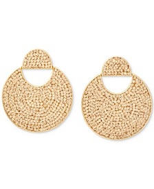 Gold-Tone Pavé Crystal Drop Earrings