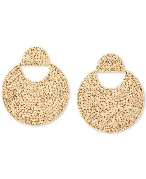 kate spade new york Gold-Tone Pavé Crystal Drop Earrings