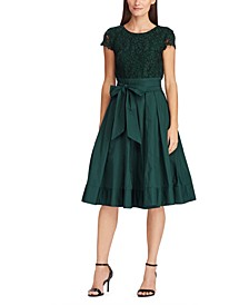Lace-Taffeta Dress