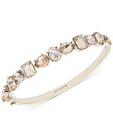 Gold-Tone Crystal & Stone Bangle Bracelet