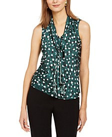 Polka Dot Tie-Neck Top