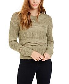 Juniors' Stitched Sweater