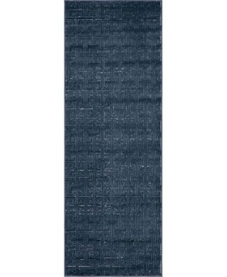 "Park Avenue Uptown Jzu004 Navy Blue 2'2"" x 6' Runner Rug"