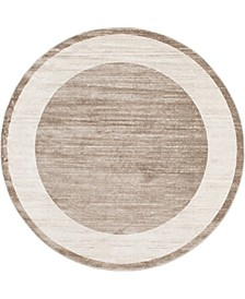 Yorkville Uptown Jzu007 Light Brown 8' x 8' Round Rug