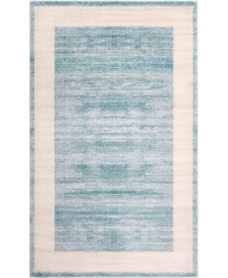 Yorkville Uptown Jzu007 Turquoise 5' x 8' Area Rug
