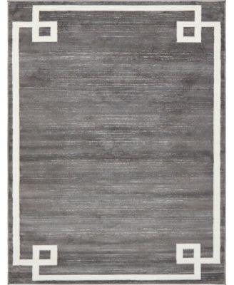 Lenox Hill Uptown Jzu005 Gray 8' x 10' Area Rug