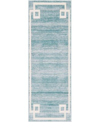 "Lenox Hill Uptown Jzu005 Turquoise 2'2"" x 6' Runner Rug"
