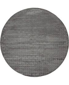 Park Avenue Uptown Jzu004 Gray 8' x 8' Round Rug