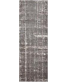 """Lexington Avenue Uptown Jzu003 Gray 2'2"""" x 6' Runner Rug"""