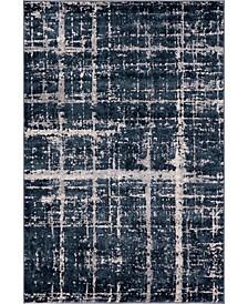 Lexington Avenue Uptown Jzu003 Navy Blue 4' x 6' Area Rug