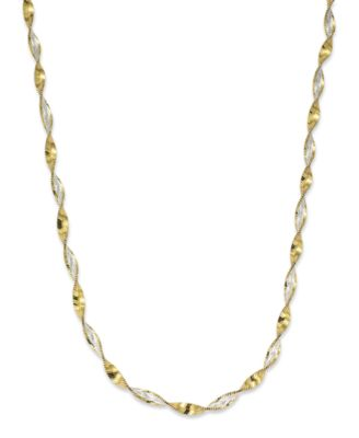 """18"""" Twist Link Chain Necklace in 18K Gold over Sterling Silver, Created for Macy's"""