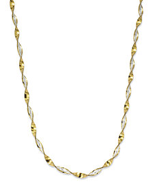 "Giani Bernini 18"" Twist Link Chain Necklace in 18K Gold over Sterling Silver, Created for Macy's"