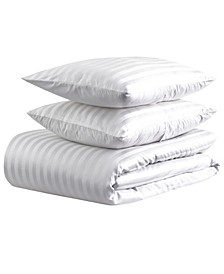 500 thread count Damask Stripe Duvet Set, King