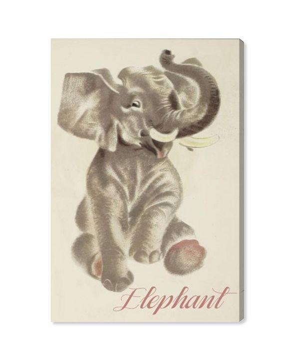 "Oliver Gal Elephant Canvas Art, 10"" x 15"""