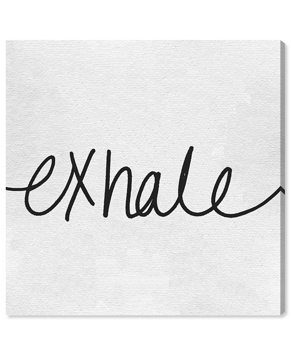 "Oliver Gal Exhale Minimalist Canvas Art, 36"" x 36"""