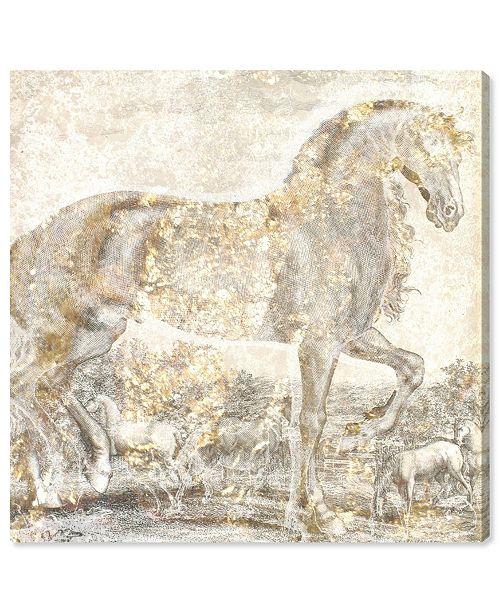 "Oliver Gal Brilliant Equestrian Canvas Art, 16"" x 16"""