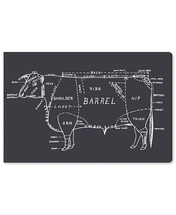 "Oliver Gal Beef Canvas Art, 45"" x 30"""