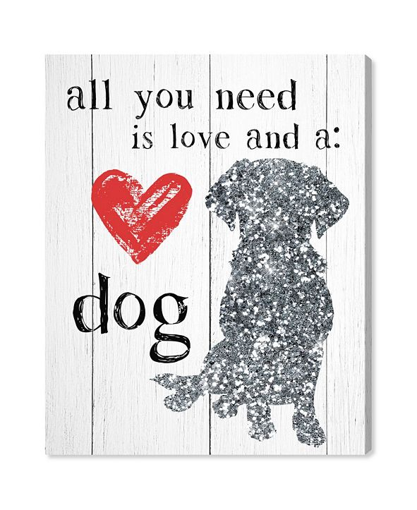 "Oliver Gal Love and A Dog Canvas Art, 20"" x 24"""