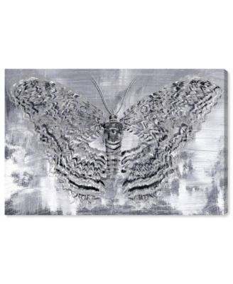Silver Winged Butterfly Canvas Art, 45