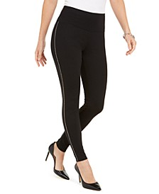 INC Side-Trim Ponté-Knit Leggings, Created For Macy's