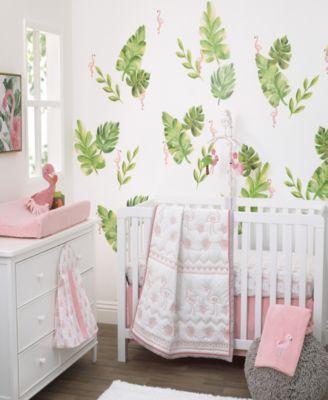 Tropical Flamingo Applique Baby Blanket