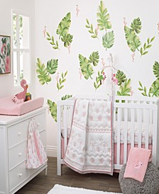 Tropical Flamingo 4-Piece Crib Bedding Set