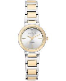 Women's Diamond-Accent Two-Tone Bracelet Watch 26mm