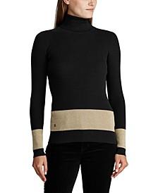 Ribbed Turtleneck Sweater, Regular & Petite Sizes