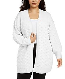 Plus Size Popcorn Cardigan Sweater