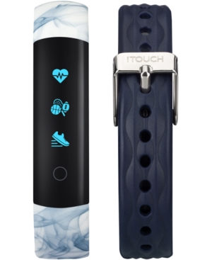 This iTouch Slim activity tracker inspires you to hit your goals and build healthy habits by tracking your calories, activity, sleep, and more. Includes two comfortable silicone straps. Style #ITL7591B08D-H05