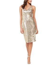 Allover-Sequin Sheath Dress
