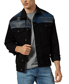 Men's Color-block Denim Trucker Jacket