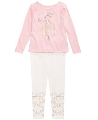 Toddler Girls Ballerina Bow Leggings, Created For Macy's