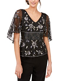 Embellished Capelet Top