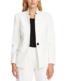 One-Button Twill Blazer