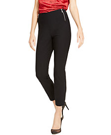 INC Side-Zip Skinny Pants, Created for Macy's