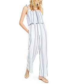 INC Striped Smocked Jumpsuit, Created For Macy's