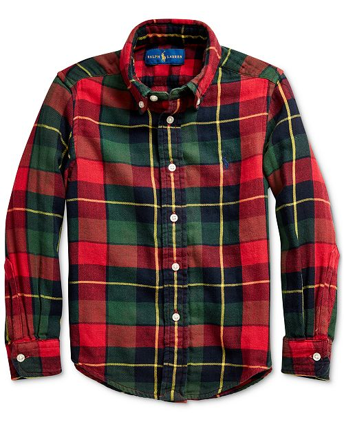 Polo Ralph Lauren Little Boys Plaid Cotton Twill Shirt