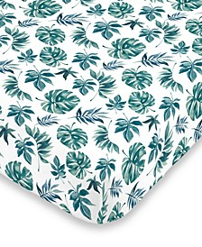 Palm Leaf Mini Crib Sheet