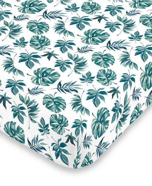 NoJo Palm Leaf Crib Sheet