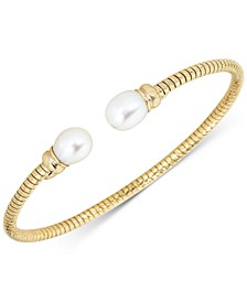 Cultured Freshwater Pearl (7-1/4mm) Tubogas Cuff Bracelet